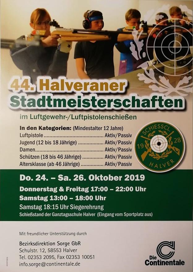 44. Halveraner Stadtmeisterschaft im Luftgewehr-/ Luftpistolenschießen
