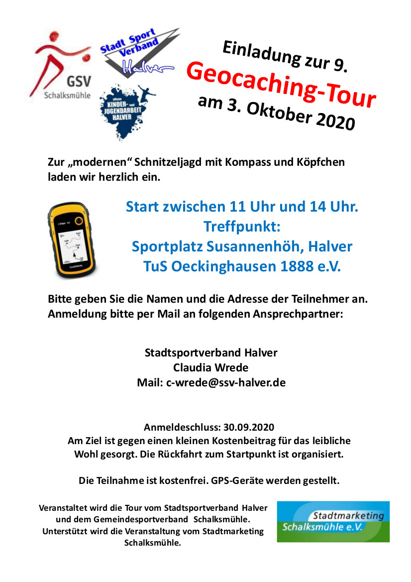 9. Geocachingtour 3. Oktober 2020