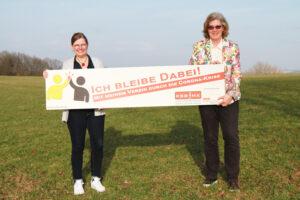 v.l. Claudia Wrede (SSV Halver), Anja Esser (KSB MK), Foto: KSB MK